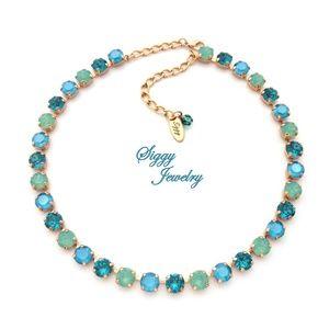 Swarovski® Crystal Necklace, Opal Jubliee, Teal